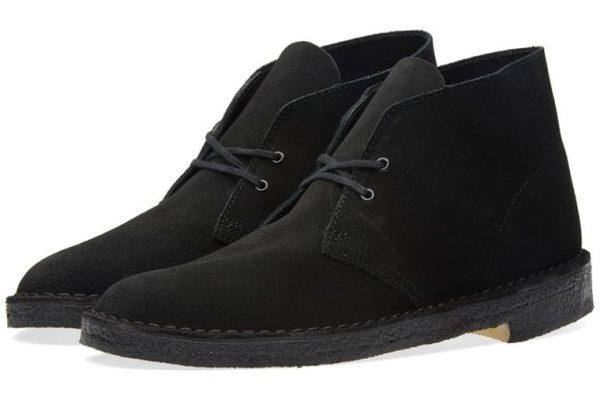 Clarks Originals DESERT BOOT black suede boots for men