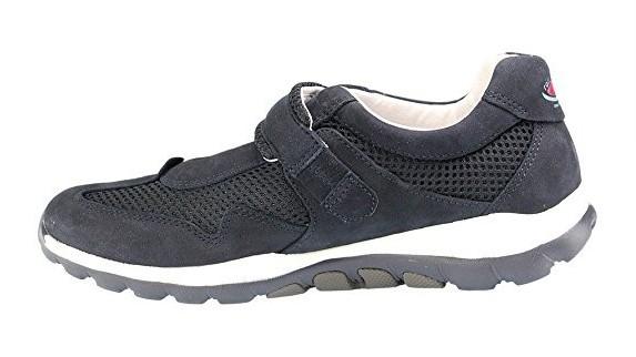 Gabor rollingsoft sensitive 66.961.46 dark blue nubuck mesh women shoes