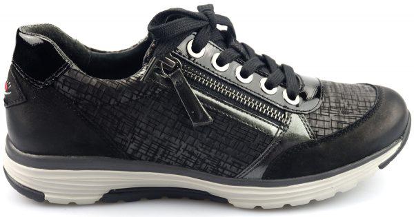 Gabor rollingsoft sensitive 76.973.38 black nubuck/leather