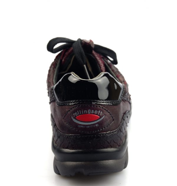 Gabor rollingsoft sensitive 36.968.13 wine red leather walkingshoes for women