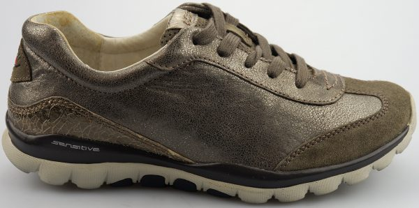 Gabor rollingsoft sensitive 26.965.34 argento silver leather suede combi