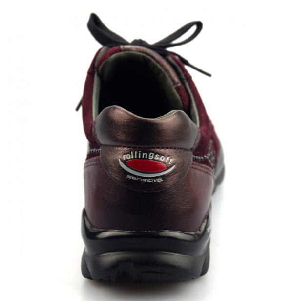 Gabor rollingsoft sensitive 56.964.48 merlot red leather suede