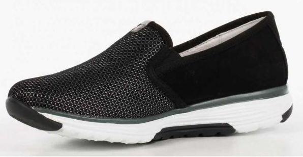 Gabor rollingsoft sensitive 66.970.47 black nubuck and mesh combi slip-on walkingshoes for women
