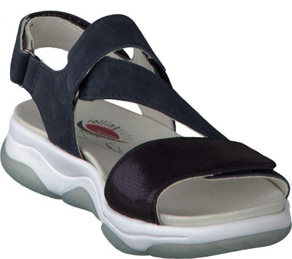 Gabor rollingsoft 86.928.46 nubuck sandal for women blue