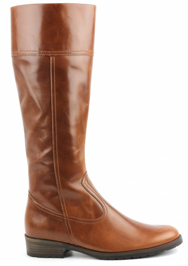 Gabor boots 72.776.93 cognac brown leather