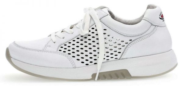 Gabor rollingsoft 86.948.50 white leather with perforations