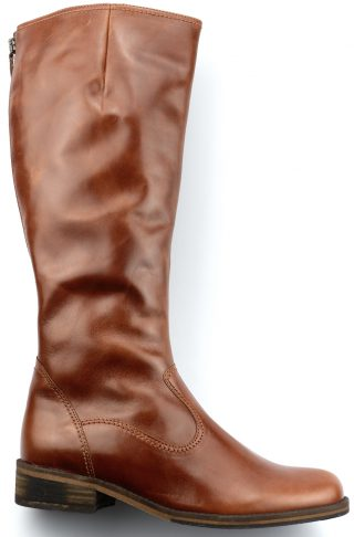 Gabor boots 72.797.93 cognac brown leather     VARIO LEG WIDE