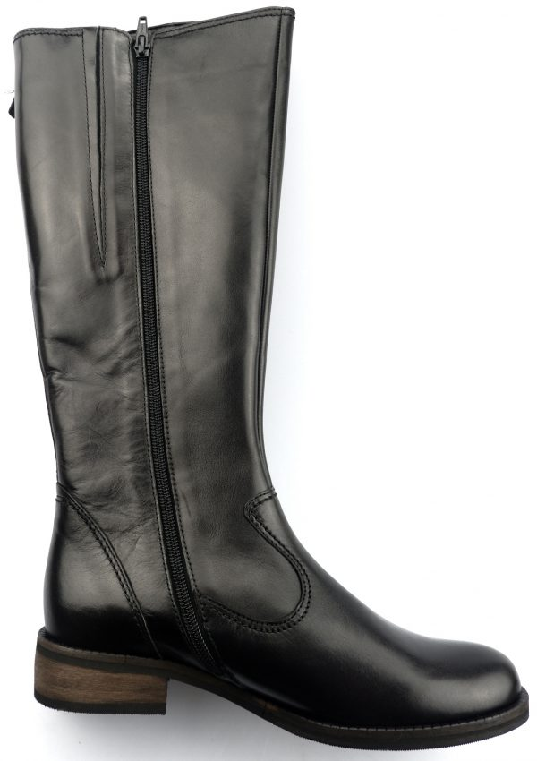 Gabor boots 72.797.67 black leather     VARIO LEG WIDE