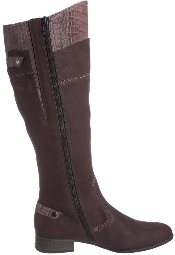 Gabor boots 16.567.35 moro brown leather WIDE LEG