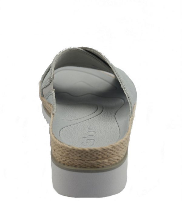 Gabor 83.722.61 ice silver leather slippers for women