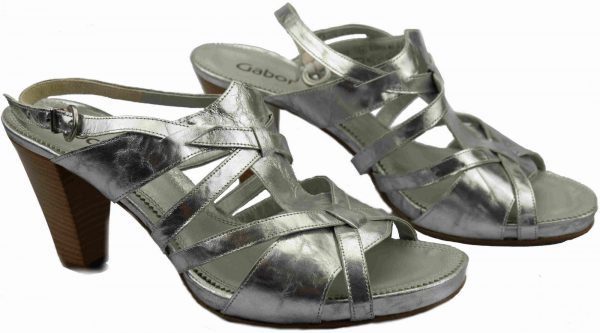Gabor sandal 61.790.64 tequila silver leather