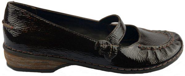 Clarks slip-on HUSKY JADE ebony patent leather