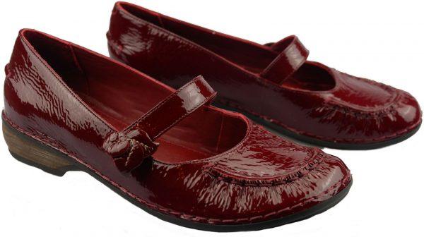 Clarks slip-on HUSKY JADE red patent leather