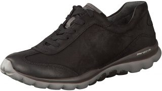 Gabor rollingsoft 06.965.47 nubuck leather walking shoe for women black