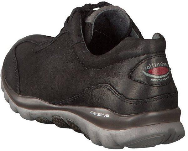 Gabor rollingsoft 06.965.47 nubuck leather walking shoe for women black