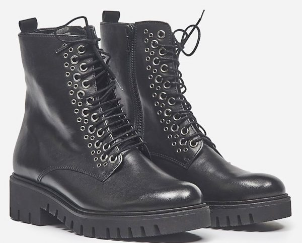 Gabor 92.788.57 black leather mid-high boot for women
