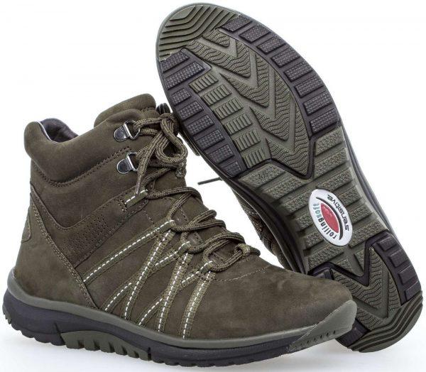 Gabor rollingsoft sensitive 96.936.42 nubuck ankle boot green