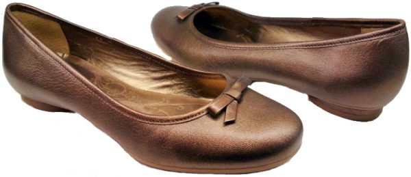 Clarks ballerina pumps COCOA CREME 2 brons leather