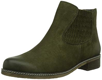 Gabor 92.722.22 nubuck ankle boor for women with WIDE FEET colour GREEN