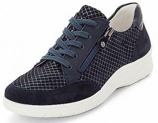 Ara 12-41050-18 Women Sneaker -  Wide Fit - Blue