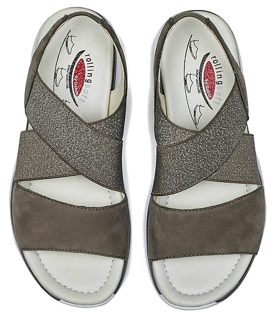 Gabor Rollingsoft 26.915.31 Women's Walking Sandal - Fumo Beige