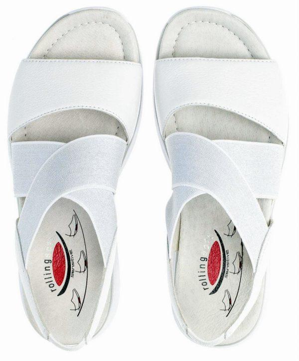Gabor Rollingsoft 26.915.50 Women's Walking Sandal - White