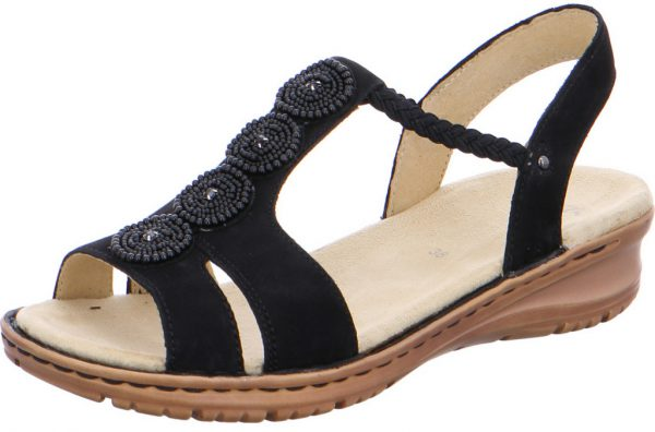 Ara 12-27217-75 Women's Sandal - Black