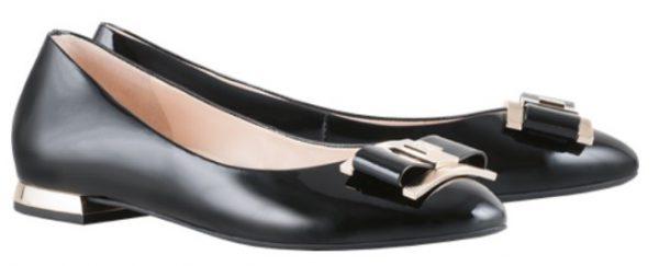 Högl ballerinas Delight 8-101044-0100 black patent leather