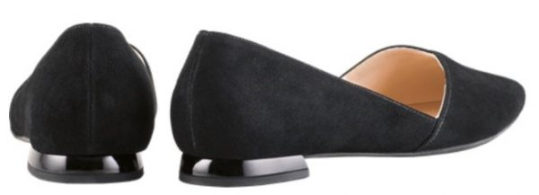 Högl ballerinas Boulevard 10 0-120012-0100 black suede leather