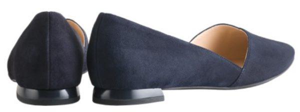 Högl ballerinas Boulevard 10 0-120012-3000 blue suede leather