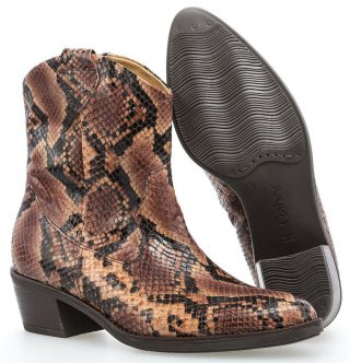 Gabor 31.600.34 ankle boot women - rose with reptile optik