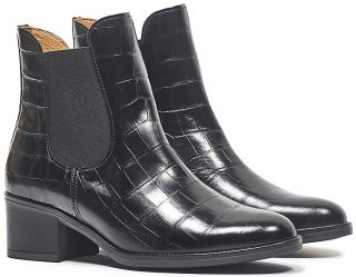 Gabor ankle boot 31.650.37 black leather croco print