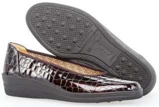 Gabor 36.400.95 Women Slip-on - Crocoprint Patent Red