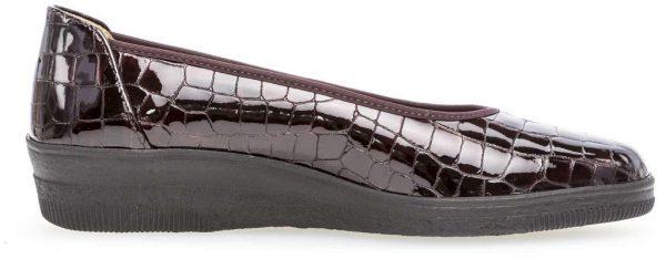 Gabor 36.400.95 Women Slip-on - Crocoprint Patent Red