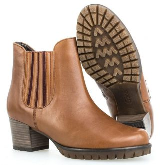 Gabor 36.654.61 Women Ankle Boot - Cognac Brown