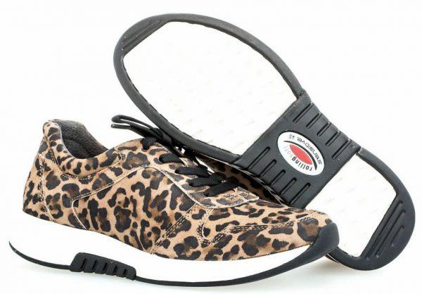 Gabor Rollingsoft 36.946.91 Women Walking Shoe - Brown with Tiger Print