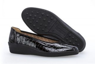 Gabor 36.400.97 Women Slip-on - Crocoprint Patent Black
