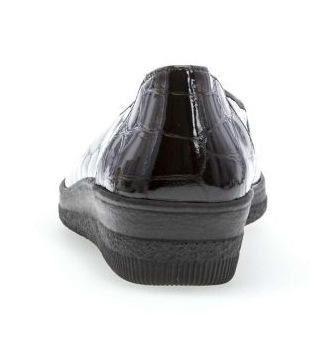 Gabor 36.400.97 Women Slip-on - Crocoprint Patent Black