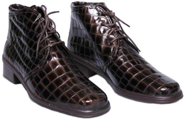 Gabor 74.540.98 dark brown patent leather