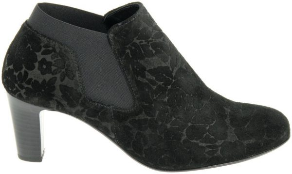 Gabor ankle boots 95.260.87 black suede with flower print