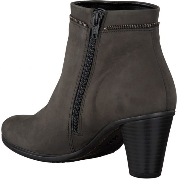 Gabor 95.614.19 anthrazite grey nubuck ankle boot for women