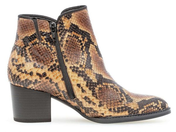 Gabor ankle boot 32.890.35 whisky brown with reptile look