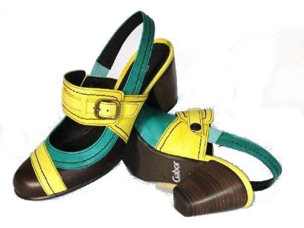 Gabor 03.680.54 women slingback multicolor