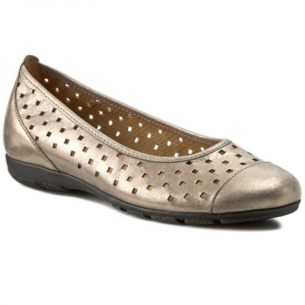 Gabor 44.169.63 Women Ballerina - Metallic Gold