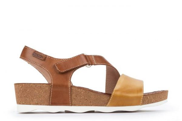 Pikolinos MAHON W9E-0833C1 Leather Women's Sandal - Honey