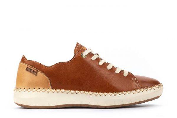 Pikolinos Mesina W6B-6836 Leather Sneaker for Women - Brandy