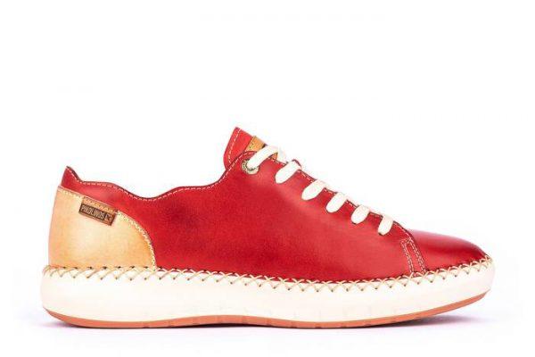 Pikolinos Mesina W6B-6836 Leather Sneaker for Women - Coral