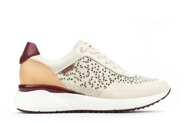 Pikolinos SELLA W6Z-6869C1 Leather Sneaker for Women- Nata