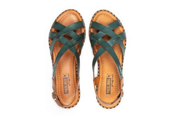 Pikolinos ALGAR W0X-0556 Leather Women's Sandal - Emerald
