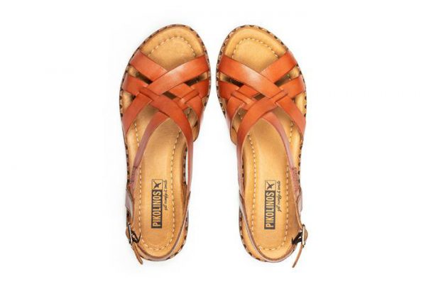 Pikolinos ALGAR W0X-0556 Leather Women's Sandal - Scarlet